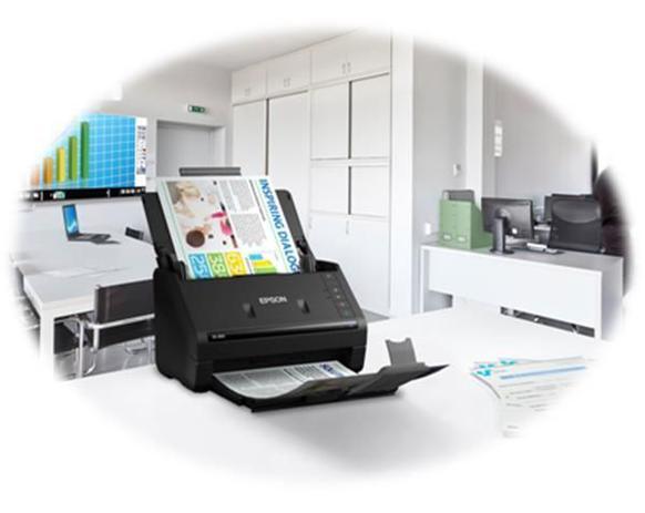 Imagem de Scanner epson colorido de documentos workforce es-400 - b11b226201