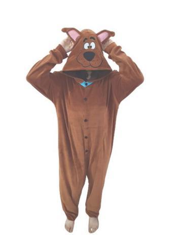 Imagem de Scooby Doo Fantasia Pijama Kigurumi Macacão Roupa Infantil Adulto Desenho Anime Cosplay