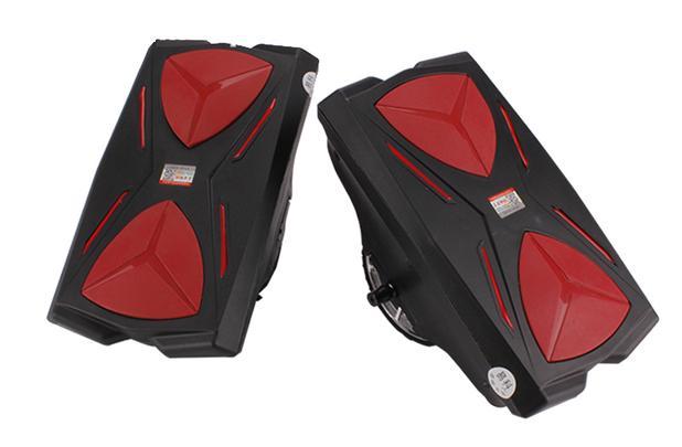 97801365b51 Scooter Elétrico Skate Roller Hover Shoes Preto e Vermelho - Hoverhoes