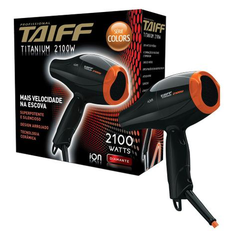 Secador de Cabelo Taiff Titanium Colors Laranja 2100W - 110V ... 6067b032e8b9