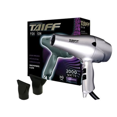 744aaf1a60 Secador de Cabelos Taiff Fox Ion Prata 2000W 220V - Secador de ...