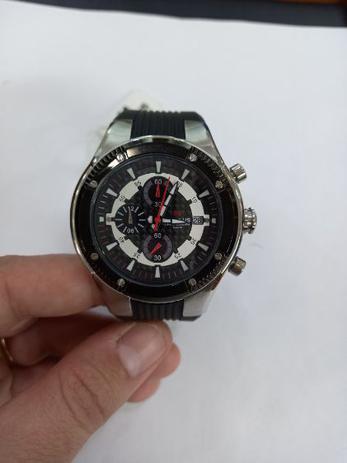 Imagem de Seculus Cronograph Masculino Pulseira de Silicone ref 20115GOSSNU1