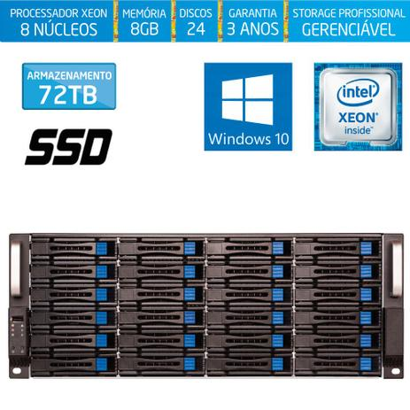 Imagem de Servidor-Storage Silix X1200H24 V6 Intel Xeon 3.5 Ghz / 8GB / SSD / 72TB / RAID / Hot-Swap / Win 10
