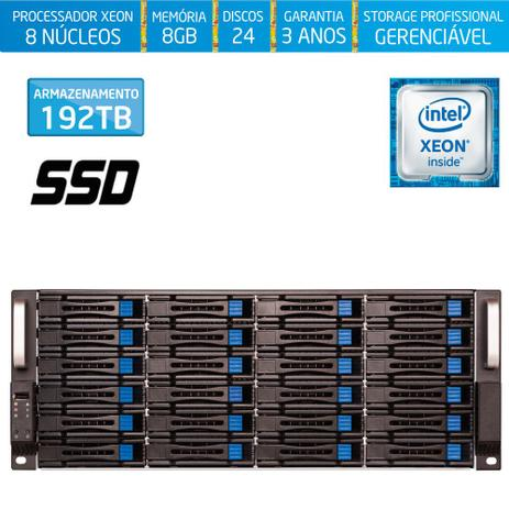 Imagem de Servidor-Storage Silix X1200H24 V6 Intel Xeon V6 3.5 Ghz / 8GB DDR4 / SSD / 192TB / RAID / Hot-Swap