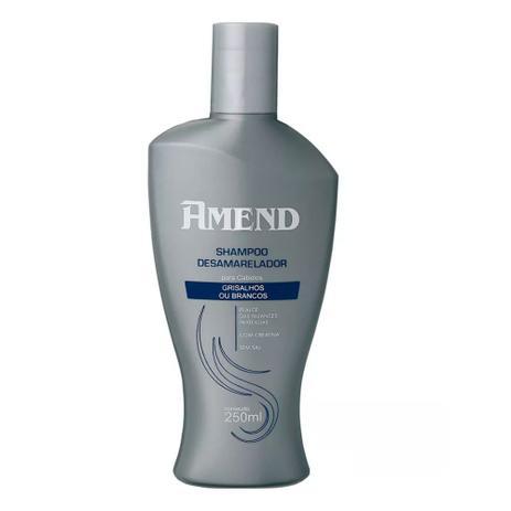Shampoo Desamarelador Amend para Cabelos Grisalhos ou Brancos 250ml