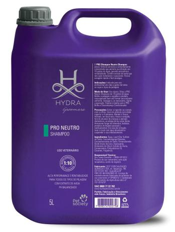 Imagem de Shampoo Hydra Groomers Pro Pet Society Neutro 5 Litros (1:10)