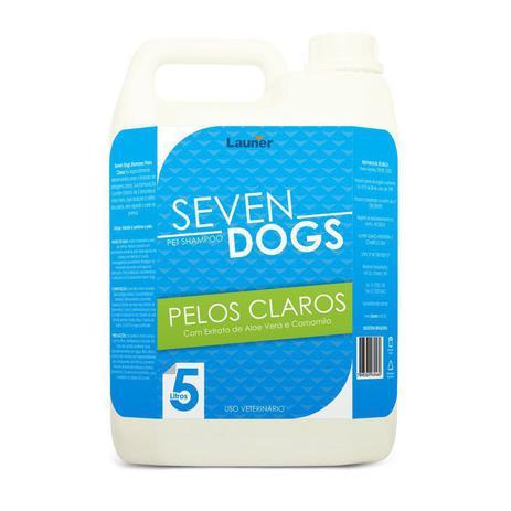 Imagem de Shampoo para cachorro pelos claros Seven Dogs 5 litros