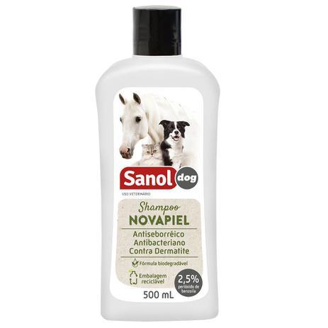 Imagem de Shampoo Sanol Novapiel Antisseborréico e Antibacteriano à base de Peróxido de Benzoila - Total Química (500 ml)
