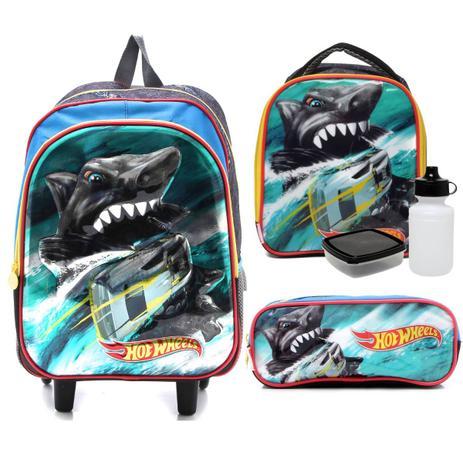 05564b41d Shark Hot Wheels Kit Mochilete com Lancheira e Estojo - Sestini 065246
