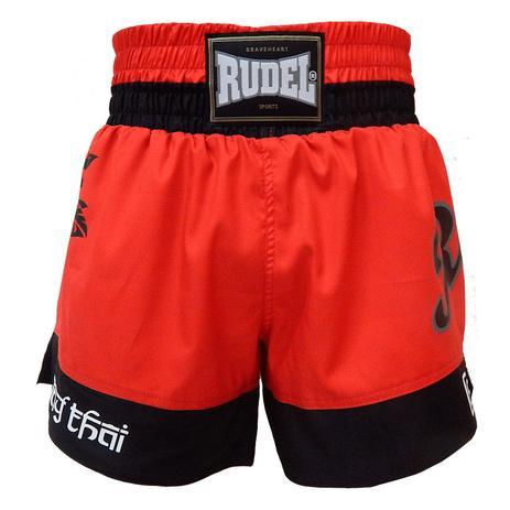 Imagem de Shorts de Muay Thai Femino Vermelho Rudel Sports Tamanho G