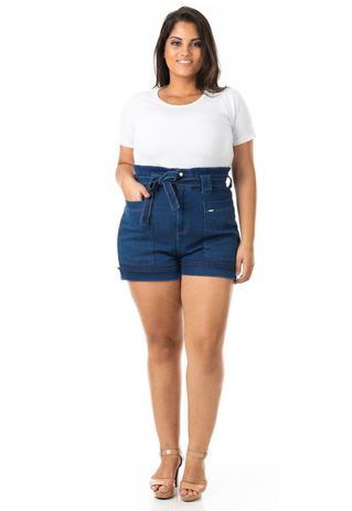 Imagem de Shorts Feminino Jeans Clochard com Bolsos Plus Size
