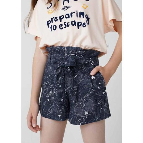 Imagem de Shorts Infantil Menina Clochard Em Viscose