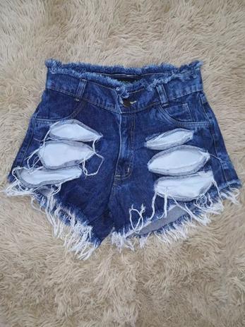 44af7862c Shorts Jeans Feminino Cintura Alta Desfiado Hot Pants - Wmjeans ...