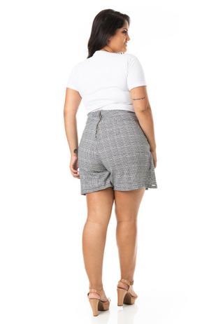 Imagem de Shorts Saia Feminino Xadrez Plus Size