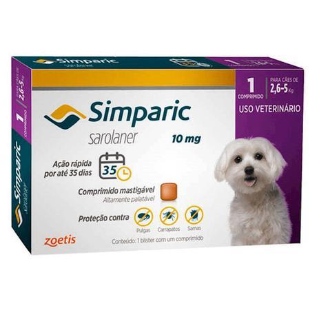 Imagem de Simparic Antipulgas E Carrapatos Cães 2,6 A 5kg