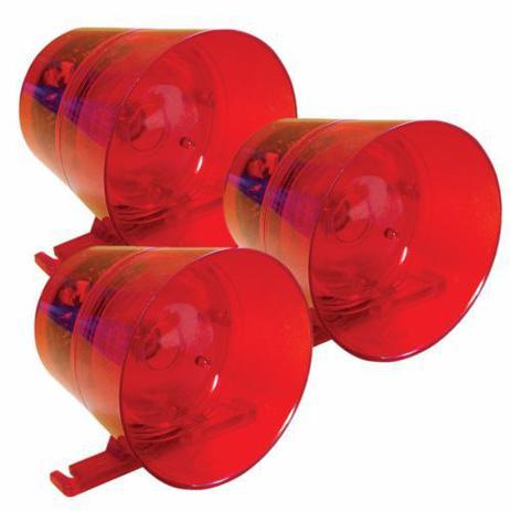 Imagem de Sirene Audiovisual Vermelha 12/24 Vdc Ipec (3 Unidades)