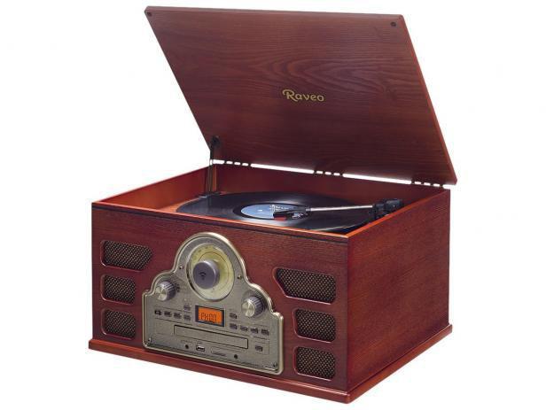 Imagem de Sistema de Àudio c/Toca-Discos de 3 Rotações,FM,CD,USB E SD Card (Reprod.e Grava)Gravação de LPs,CD