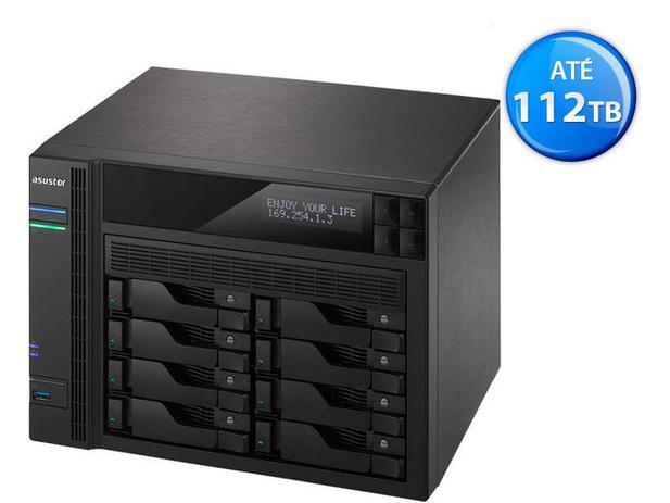 Imagem de Sistema De Backup Nas Asustor As6208t Intel Quad Core  J3160 1,6ghz 4gb Ddr3 Torre 8 Baias