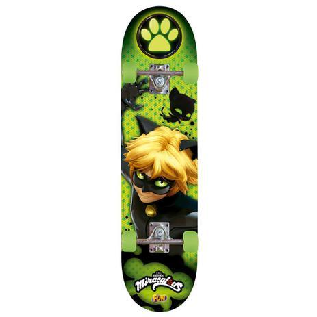 Skate - Cat Noir - Com Acessórios de Segurança - Fun - Skate ... 129573e0f36