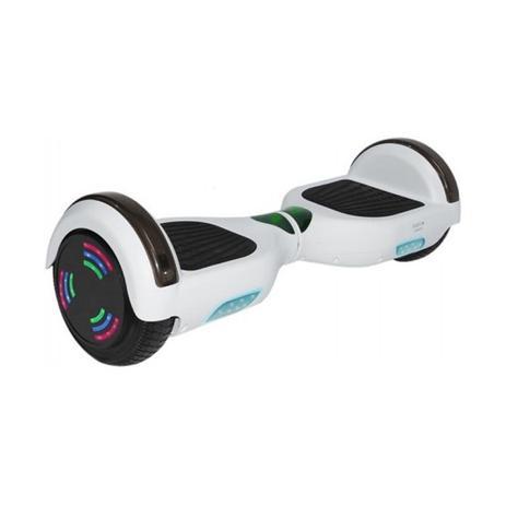 Imagem de Skate Elétrico Hoverboard 6.5'' Branco com Bluetooth com LED Frontal e Lateral - Smart Balance