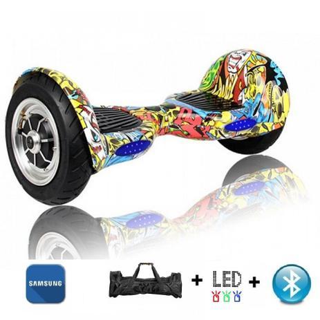 Imagem de Skate Elétrico Smart Balance 10 Polegadas Hip-Hop Pneu Inflável - LED, Bluetooth, Bateria Samsung