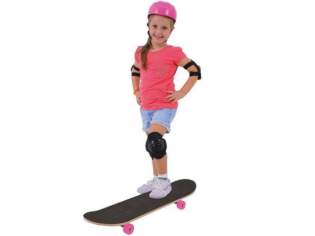 Imagem de Skate Infantil Radical Girl com Acessórios