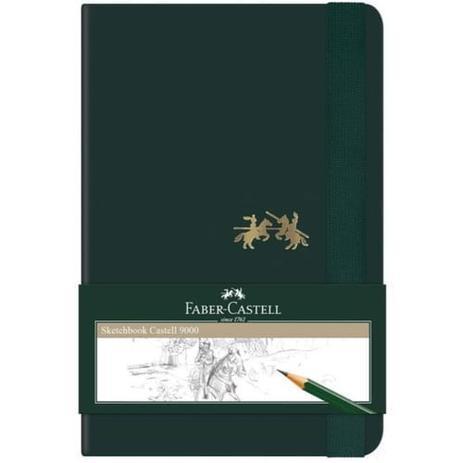 Imagem de Sketchbook Sem Pauta 125x200mm 84fls Faber + Lápis (264730)