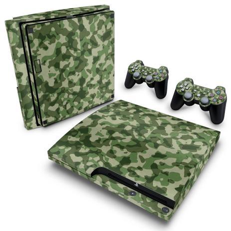 Imagem de Skin Adesivo para PS3 Slim - Camuflado Verde