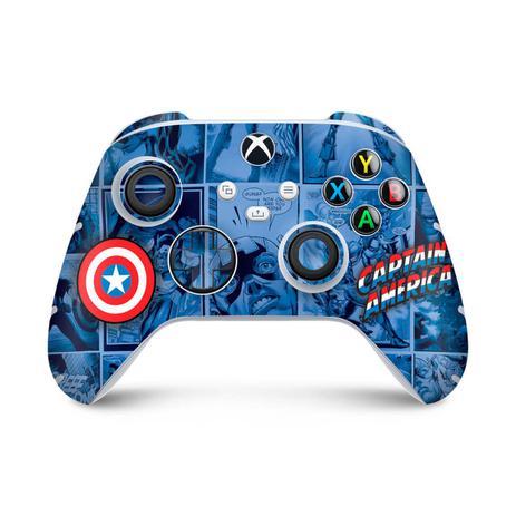 Imagem de Skin Adesivo para Xbox Series S X Controle - Capitão América Comics