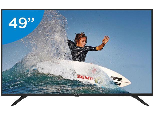 """47fddc910 Smart TV 4K LED 49"""" Semp SK6000 Wi-Fi - Conversor Digital 3 HDMI USB ..."""