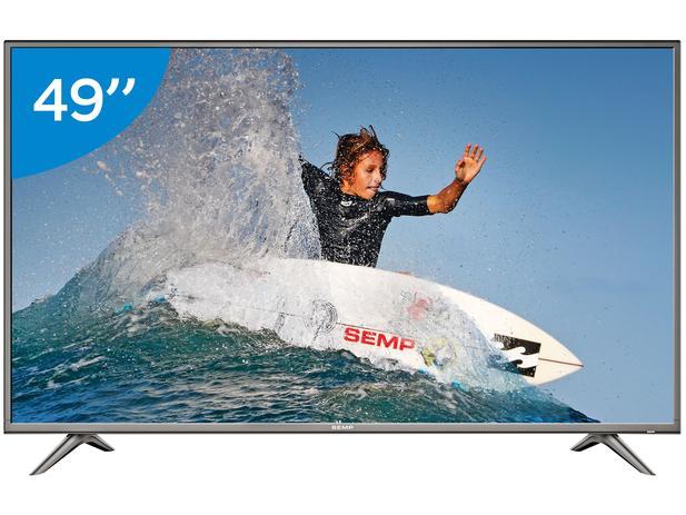 """Imagem de Smart TV 4K LED 49"""" Semp SK6200 Wi-Fi HDR - Conversor Digital 3 HDMI 2 USB"""