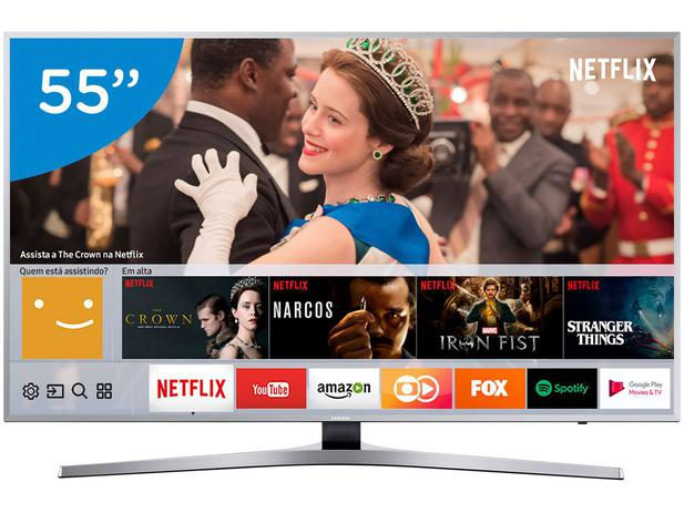 "429d6464c Smart TV 4K LED 55"" Samsung UN55MU6400GXZD - Wi-Fi Conversor Digital 3 HDMI  2 USB"
