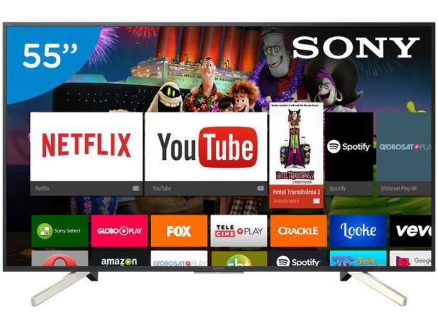 "7dcfe89837ea7 Smart TV 4K LED 55"" Sony KD-55X755F Android - Wi-Fi HDR Conversor Digital 4  HDMI 3 USB"