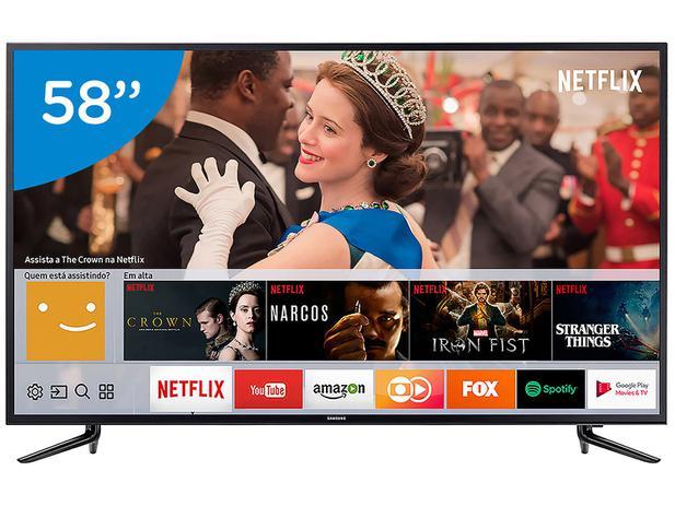 "Imagem de Smart TV 4K LED 58"" Samsung 58MU6120 Wi-Fi"