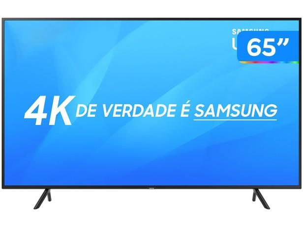 """20789802b Smart TV 4K LED 65"""" Samsung NU7100 Wi-Fi - Conversor Digital 3 HDMI 2 USB"""