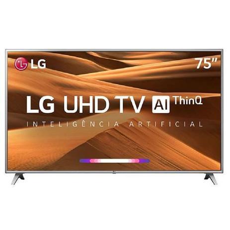 """Imagem de Smart TV 4K LG LED 75"""" Google Assistant, Home Dashboard e Wi-fi - 75UM7510PSB"""