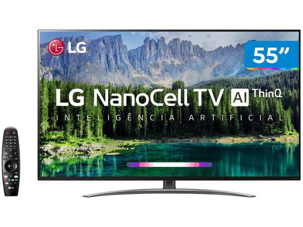 """Menor preço em Smart TV 4K NanoCell 55"""" LG 55SM8600PSA Wi-Fi HDR - Inteligência Artificial Controle Smart Magic"""