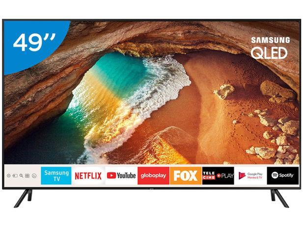 """Smart TV 4K OLED 49"""" Samsung QN49Q60RAGXZD - Wi-Fi HDR Conversor Digital 4  HDMI 2 USB"""