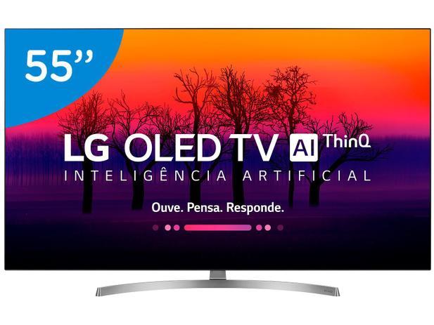 "c84592874 Smart TV 4K OLED 55"" LG OLED55B8SSC Wi-Fi - HDR Inteligência Artificial  Conversor Digital"