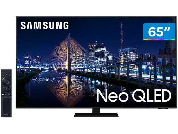 """Smart TV 65"""" 4K NEO QLED Mini Led Samsung 65QN85AA - 120hz Som em Movimento Processador AI"""