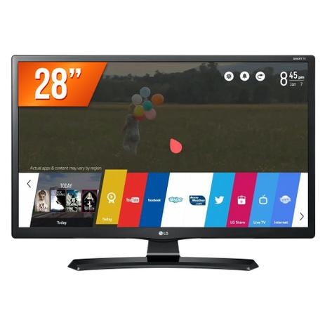 "407dcc0a6 Smart TV LED 28"" HD LG 28MT49S-OS HDMI USB Wifi Integrado Conversor Digital"