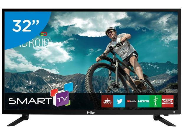 "c941a0720 Smart TV LED 32"" Philco PTV32N87SA Android - Wi-Fi Conversor Digital 2HDMI  2USB"