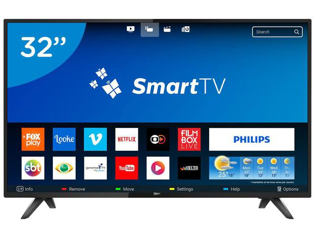 "c44e864f90c21 Smart TV LED 32"" Philips 32PHG5813 78 - Wi-Fi Conversor Digital 2 HDMI 2 USB"