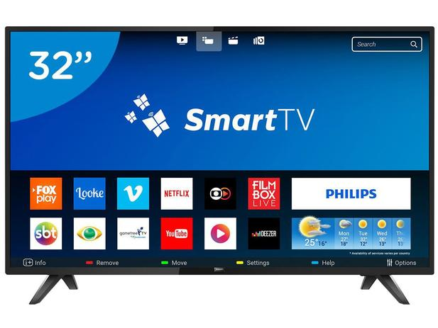 "ca47d6e2f Smart TV LED 32"" Philips 32PHG5813 78 - Wi-Fi Conversor Digital 2 HDMI 2 USB"