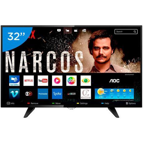 a5623a73baee7 Smart TV LED 32 Polegadas AOC Wi-Fi HD USB HDMI LE32S5970 - Smart TV ...