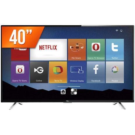 """efa398b55f9 Smart TV LED 40"""" Full HD TCL 40S4700S 3 HDMI USB Wi-Fi Integrado Conversor  Digital - Semp toshiba"""