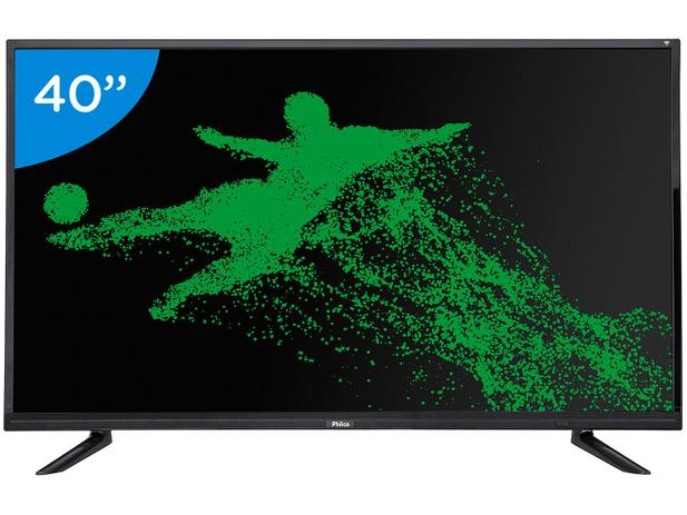 "a31c9583d45aa Smart TV LED 40"" Philco Full HD PH40E60DSGWA - Android Conversor Digital  Wi-Fi 2 HDMI 2 USB"