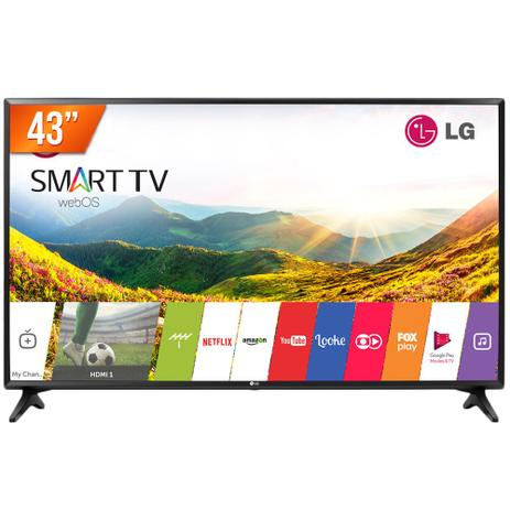 5a4b1b665 Smart TV LED 43 Full HD LG 43LJ5500 2 HDMI USB Wi-Fi Integrado Conversor  Digital