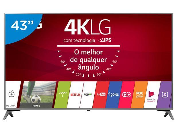 "Imagem de Smart TV LED 43"" LG 4K/Ultra HD 43UJ6565 WebOS"