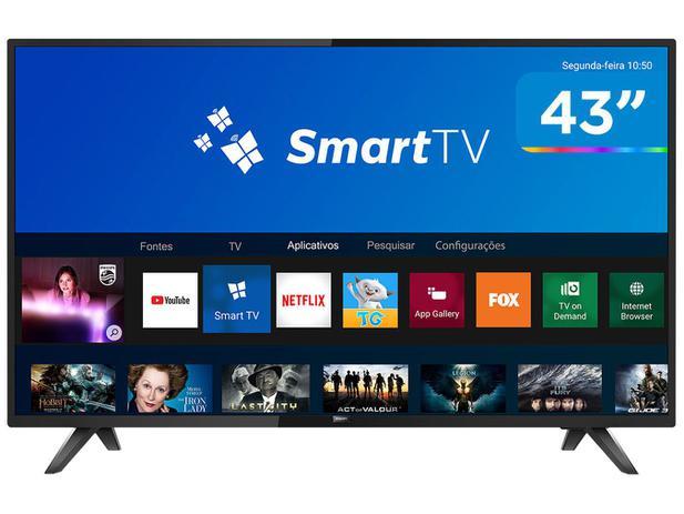 """8577f13d9 Smart TV LED 43"""" Philips 43PFG5813/78 Full HD - Wi-Fi Conversor Digital 2  HDMI 2 USB"""